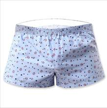 New Sexy Mens Boxers 100%contton casual shorts home shorts Low waist shorts hot pants S M L Household shorts print men(China)