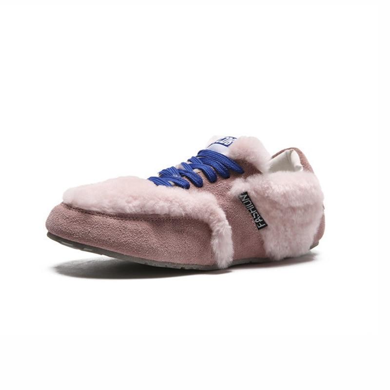 rose Cuir Femmes Tendance Noir Bottes Occasionnels Sauvage Confortable Hiver Neige Plat gris 2018 Simple Bottes Mode Nouvelle Solide Couleur En xFg8PHzw