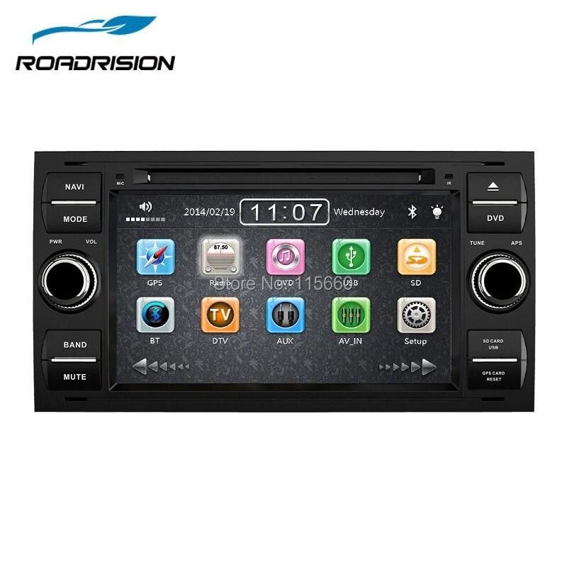 imágenes para 2Din 7 Inch Indash headunit Estéreo Del Coche DVD de Navegación GPS Para Ford Mondeo Focus C-MAX Tránsito Con Radio Bluetooth 1080 P Ipod