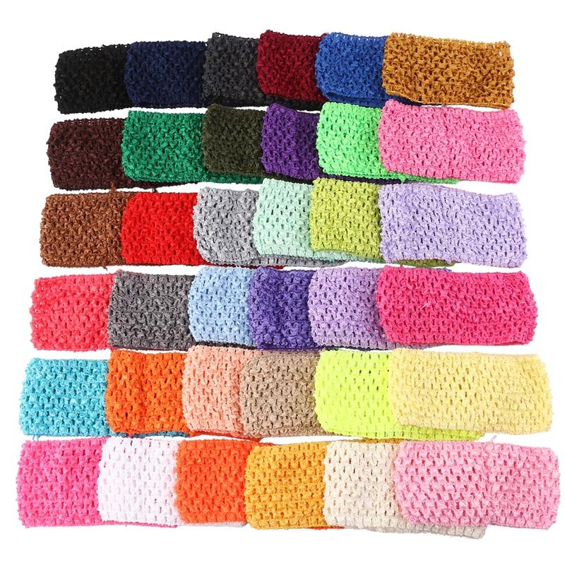 width baby crochet elastic headband crochet hair bands children hair ...