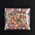 4 mm 200 unids 3D DIY uñas de arte consejo colores mezclados Nail Rhinestones 2016 Beauty Nail Decoration Glitter envío gratis NA1049