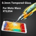 Lujo 0.3mm templado protector de pantalla de cristal protector de la película protectora para motorola moto droid turbo xt1254/moto maxx xt1225