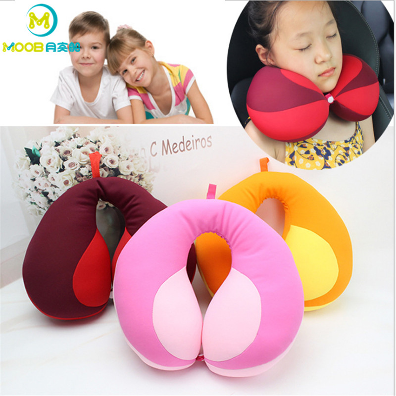 Pillow Kids Newbron Travel Neck Pillow U-Shape For Car Headrest Air Cushion Child Car Seat Head Support Infant Baby Kussen MOOB