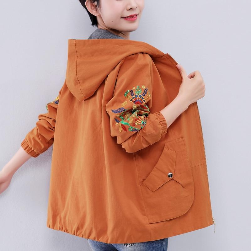 2019 nouvelle veste de broderie femmes vestes courtes printemps automne lâche haut à la mode Slim dames manteaux LP479