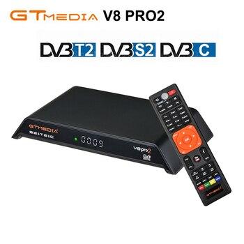 GTmedia V8 PRO DVB-T2 DVB-S2 DVB-C Satellite Receiver Support IPTV Cccam PowerVu Biss key H.265 WiFi TV Turner vs Freesat V8 V7
