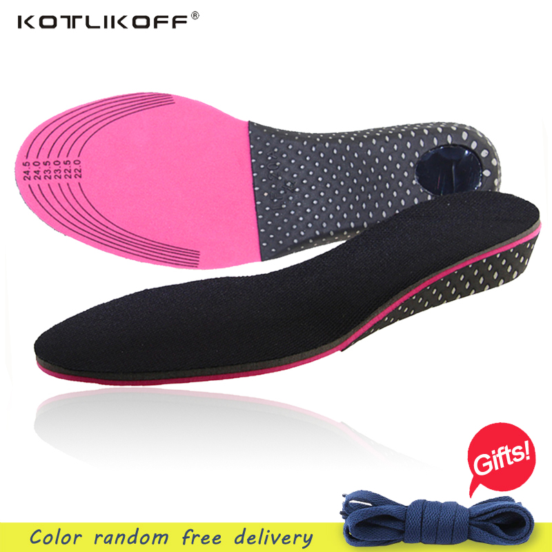 KOTLIKOFF Height Increase Insole Free Size Arch Support Insoles For Shoes High Quality Shock Absorbant Shoes Pad For Men Women high quality o leg orthotic shoe pad arch support insoles foot care massage shoes pads shock absorbant breathable insole xd 042