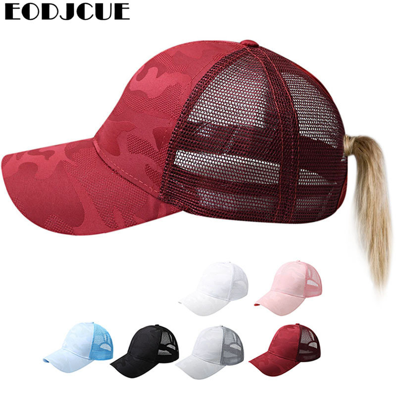 2019 <font><b>Glitter</b></font> <font><b>Ponytail</b></font> <font><b>Baseball</b></font> <font><b>Cap</b></font> <font><b>Women</b></font> Adjustable Messy Bun <font><b>Caps</b></font> Black Hat Girls Casual Bone Snapback Summer Mesh Hats image