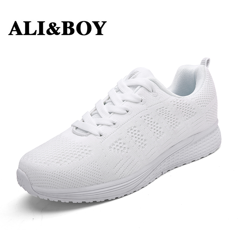 ALI&BOY 2017 Womens running shoes sport Trainer White sneakers women Breathable Mesh lose weight ladies shoes walking Footwear