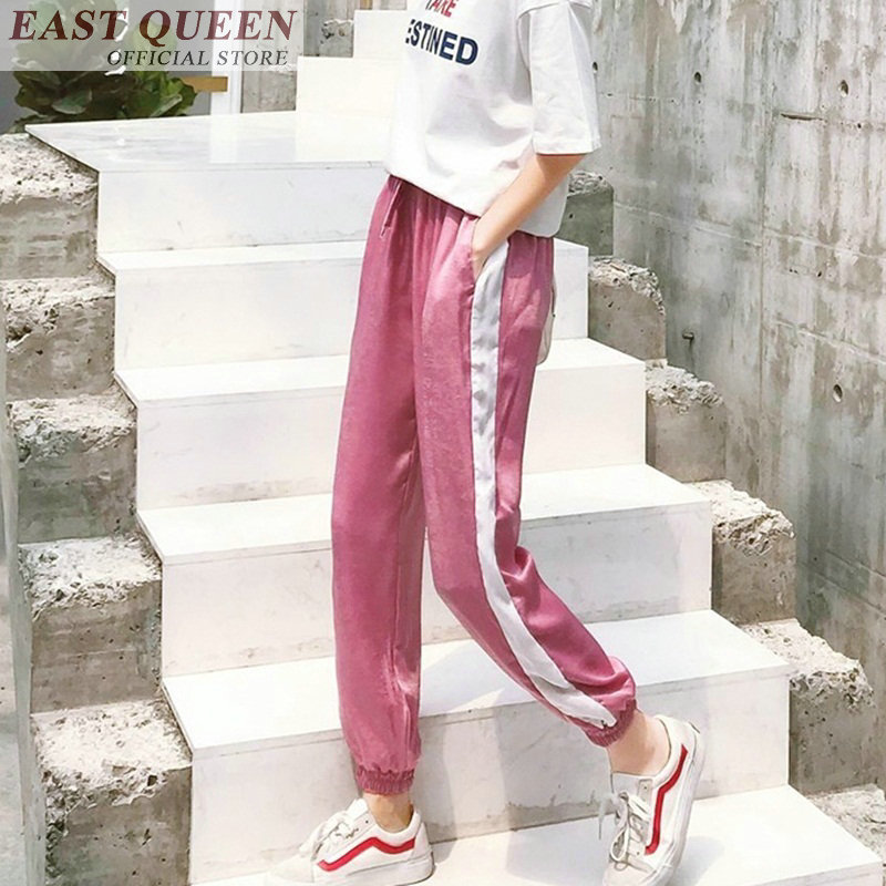 Harem pants for women high waist ankle-length pants casual drawstring loose solid trousers spliced fashion female pants DD741 L