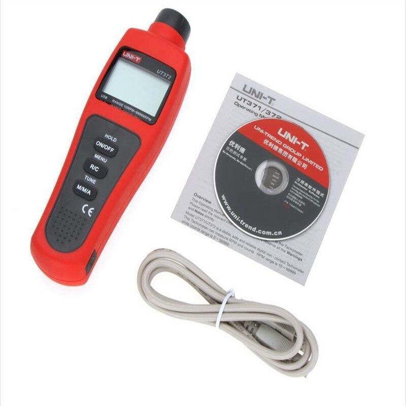 New LCD Display Digital UNI-T USB Interface Range 10RPM-99999RPM Non-Contact Digital Tachometers UT372  цены