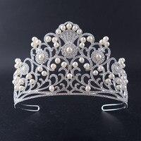 Neue Hochzeit Krone Tiaras Schmuck Cystal Studio make-up Schmuck für Frauen Brautkleid Crown Zubehör das Beste Geschenk