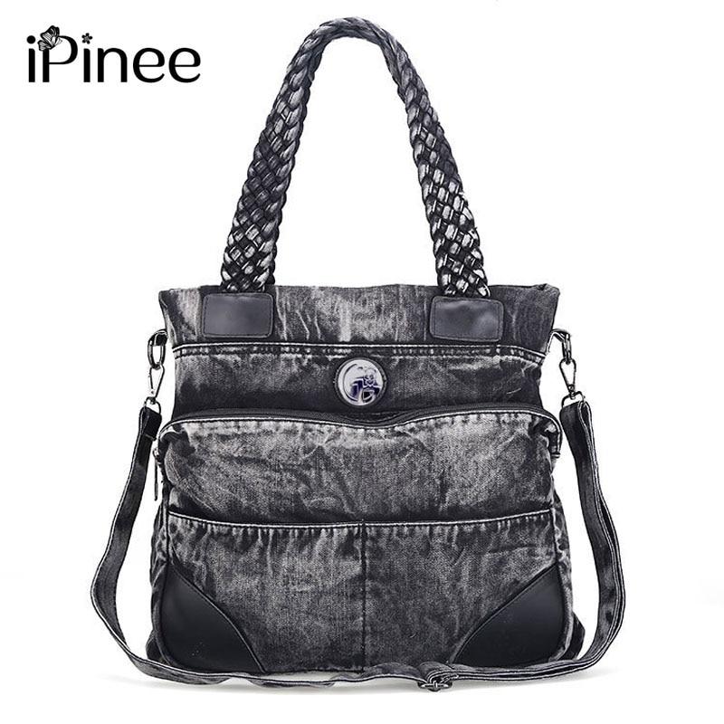 iPinee Classic Fashion Cowboy Totes Denim Women Bag ...