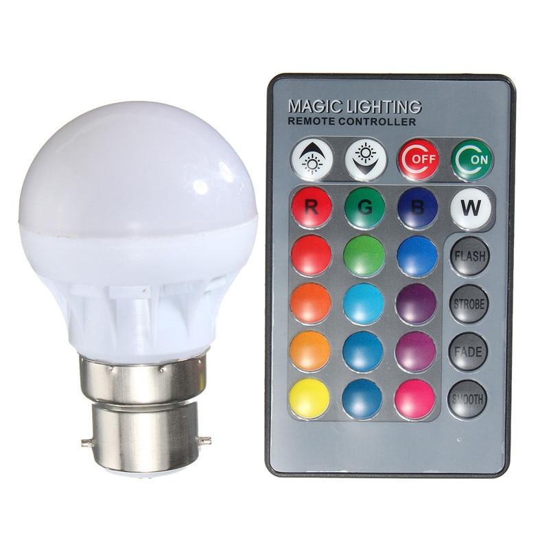 3W E27 16 Color LED Magic RGB Spot Light Bulb Lamp w// Wireless Remote Control