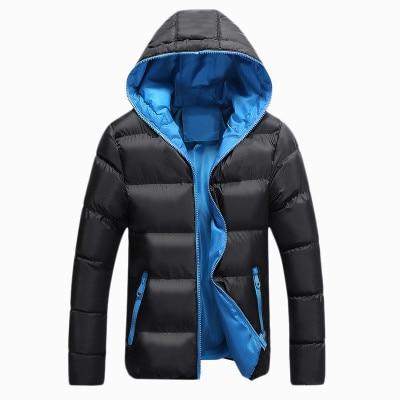 Outdoors Men Winter Hooded Down Jackets Hiking Windbreaker Trekking Climb Warm Clothes Cotton Male Sport Zipper Overcoats 5xl