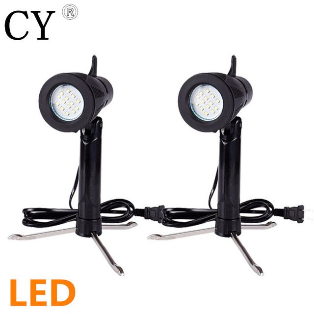 inno 2pcs 6w 3200k 5500k photography continuous led lamp table top