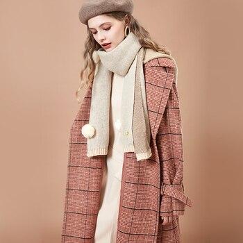 b15729d721f ARTKA 2018 осень и зима женское винтажное клетчатое пальто с лацканами  однобортное шерстяное пальто FA15085D