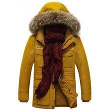 AFS JEEP Winter Parka Männer Hohe Qualität Winterjacke Männer Marke Warm Verdicken Mantel Berühmte Baumwolle Gepolstert Mode Pelz kragen Parkas