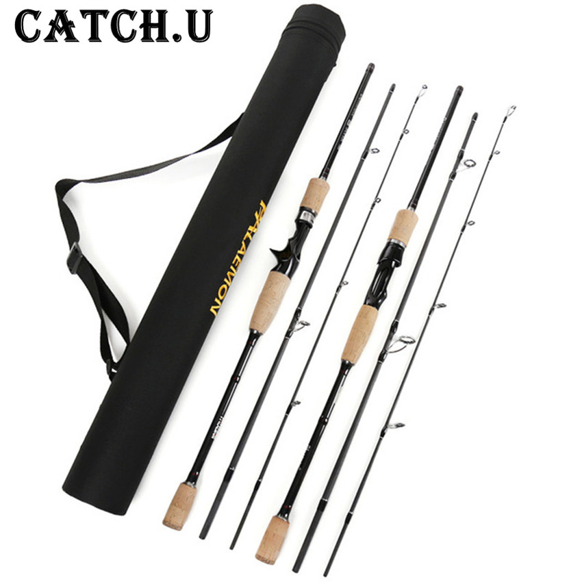 Catch.U Casting Spinning Fishing Rod,Hard Carbon Fishing Rods Telescopic Spinning Hard Sea Fishing Rod