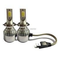 H7 Car Headlight LED Bulb 7600Lm 72W Set 12V 24V Flip Chip 6000K Truck Fog Head