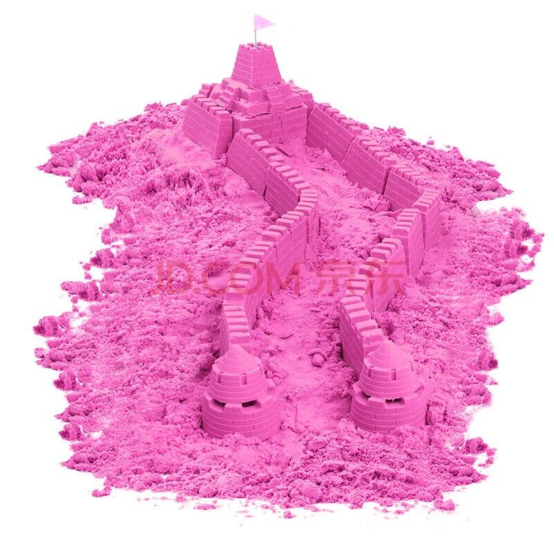 Sable magique incroyable espace jouer sable amusant petits jouets sculpte château Architecture ensemble 42 pièces moules trousse à outils, un Art sensoriel cinétique - 2
