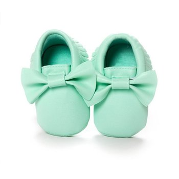 New 18 Colors Tassels Baby Girls Sweet Moccasin Newborn Babies Shoes Soft Bottom PU leather Prewalkers Boots