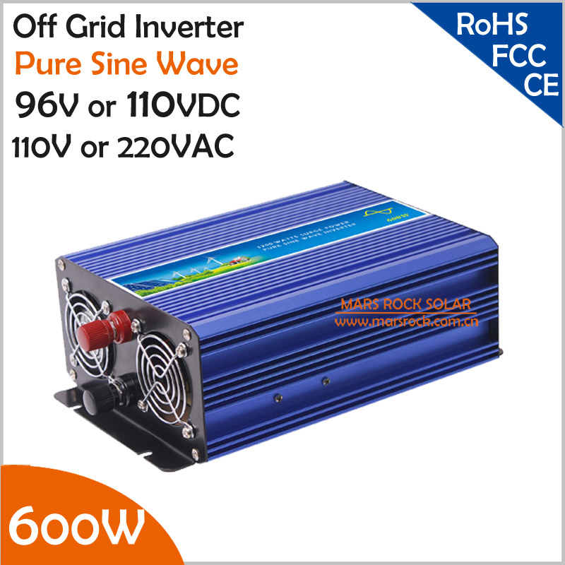 600W DC96/110V, AC110V/220V Off Grid Pure Sine Wave Solar Inverter or Wind Inverter, Surge 1200w, 50Hz/60Hz, Single Phase 400w wind generator new brand wind turbine come with wind controller 600w off grid pure sine wave inverter