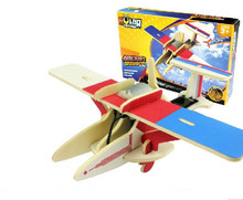 Educational toy  science and technology P260 dragonfly solar plane 3d jigsaw puzzle assembly model wooden game child gift 1 pc
