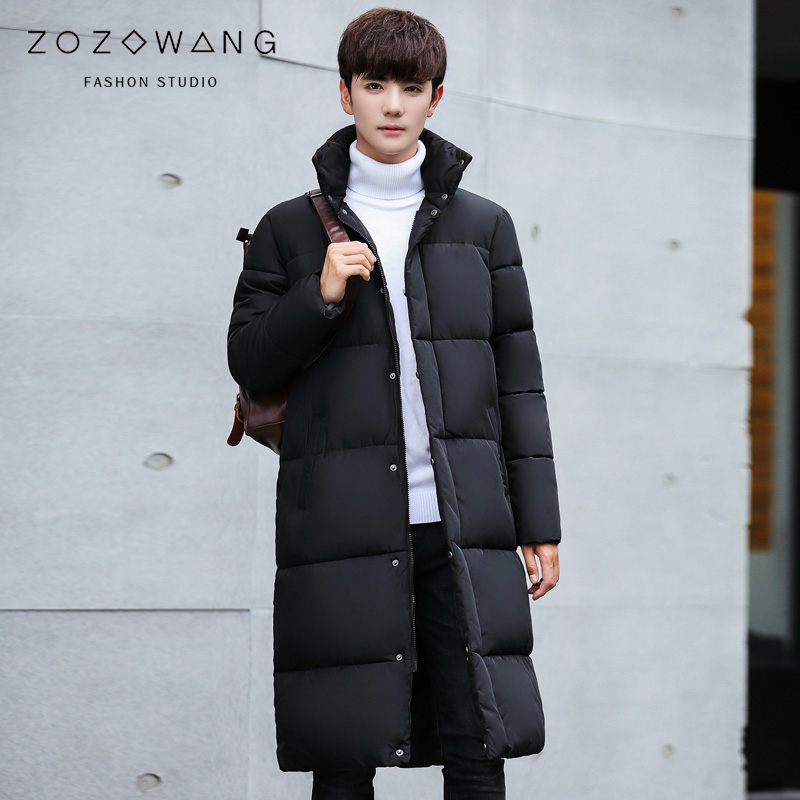 new 2018 Fashion Winter New Jacket Men Warm Coat Fashion Casual   Parka   Medium-Long Thickening Coat Men For Winter plus size 3XL