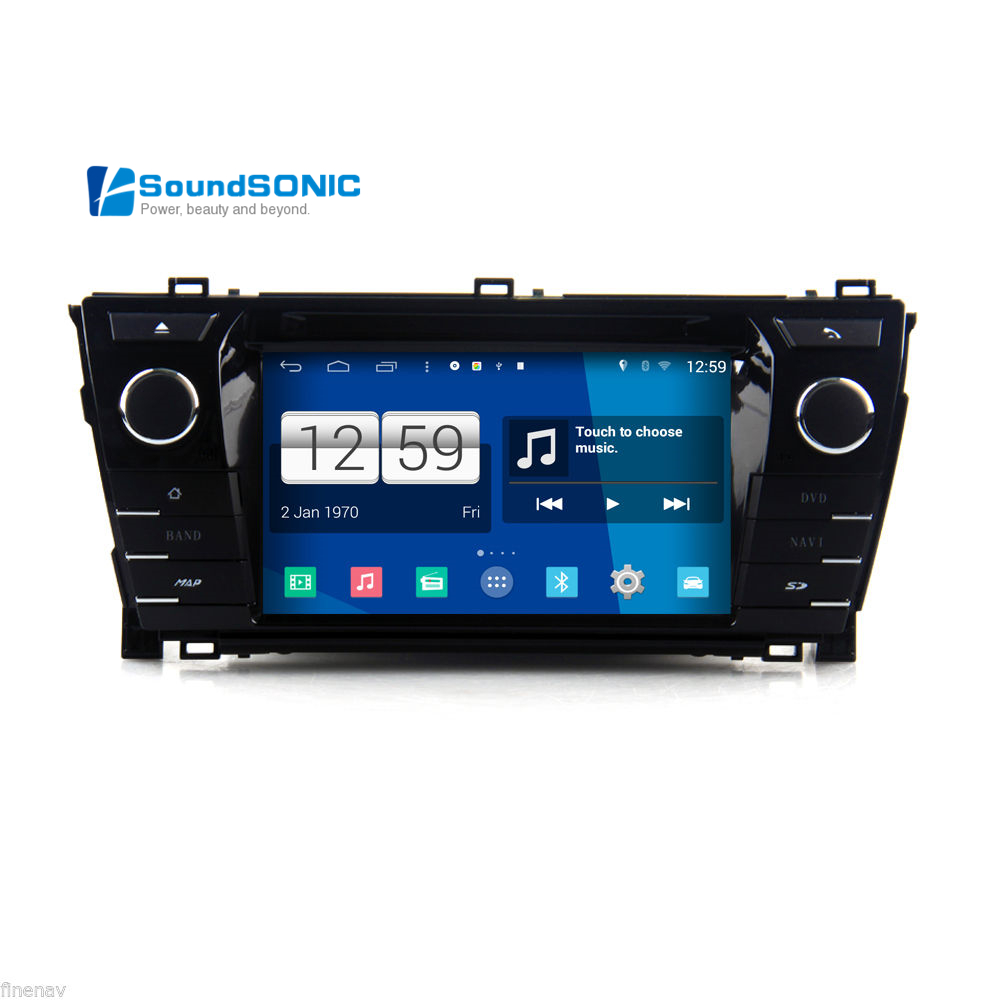 android 4 4 4 for toyota corolla 2013 2014 2015 car media dvd gps navigation navigator headunit. Black Bedroom Furniture Sets. Home Design Ideas