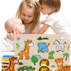 3D wooden Animals puzzles Early Childhood Education Wooden Toy Hand Board Developmental Puzzles for child kids A1