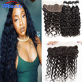 Rosa hair products Indian water wave human hair weave with closure ear to ear lace frontal with wet and wavy Indian virgin hair