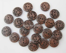 WBNLGO Free shipping shirt buttons 15mm 100pcs Brown wooden button garment accessories