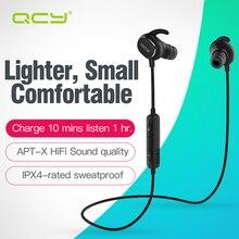 QCY QY19 спортивные наушники bluetooth V4.1 беспроводной наушники aptx гарнитура IPX 4-оценка sweatproof с МИКРОФОНОМ для iphone samsung