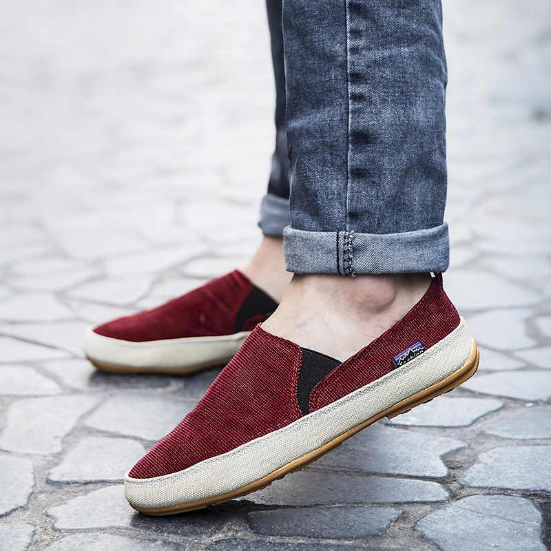 GUDERIAN 2019 Leichte Loafer Schuhe Männer Atmungs Leinwand Schuhe Männer Turnschuhe Slip-On Bequeme Wanderschuhe Espadrilles