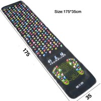 Hot Sale 2017 Medialbranch Colorful Plastic Foot Massager Pad Acupuncture Cobblestone Yoga Mat 175 35cm Good