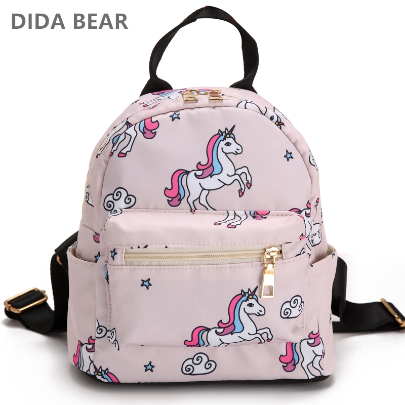 DIDABEAR New Small Backpack Girls Printing Backpacks School Bags For Teenagers Girls Female Travel Rucksack Cute Animal Prints