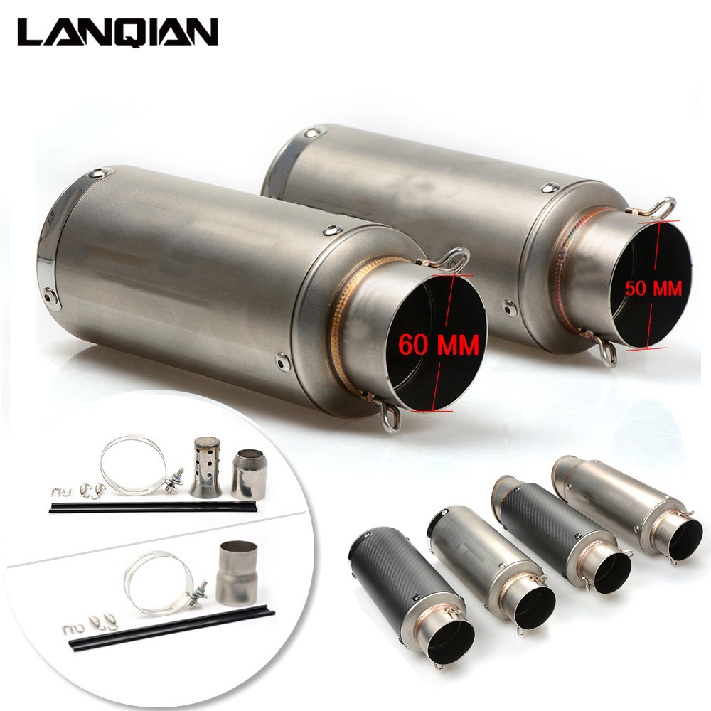 51/61mm Motorcycle Carbon Fiber Exhaust Pipe GP Escape Exhaust Pipe Exhaust Muffler For benelli crf 230 nmax honda dio pit bike dirt bike 36 51 61mm ak exhaust muffler pipe for yamaha wr450 wr250 ttr125 xt250 yz250 yz426 yz450 f x fx r l e