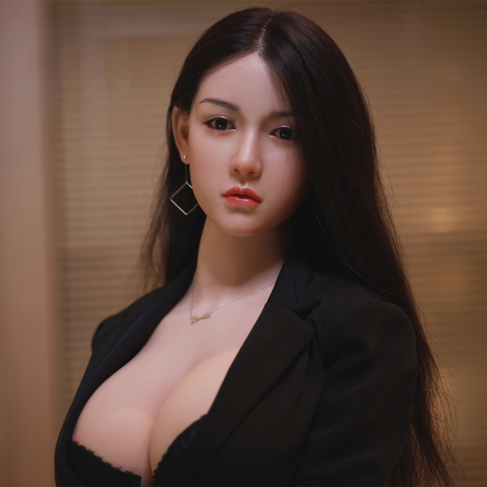 JYDOLL 170cm Sex Doll Realistic Silicone Head Implanted Hair Pretty Girl Big Breast Reallife Size TPE Body Love Doll HGDOLL
