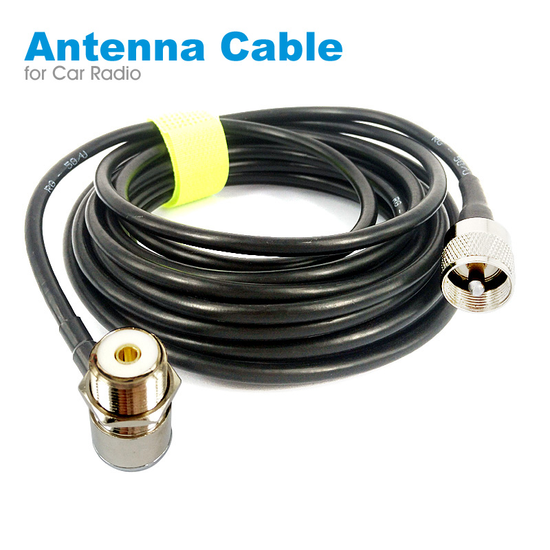 PL259 Antenna Connector Coaxial Extend Cord Cable SO239 5M 16ft For Car Radio Walkie Talkie MP320 MP9000 KT-8900 KT-8900R