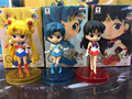 Japón Anime Sailor Moon Mercury Hino Rei Q Versión PVC Figura de Acción Juguetes de Los Niños Modelo de Colección Doll Anime Figura Brinquedos