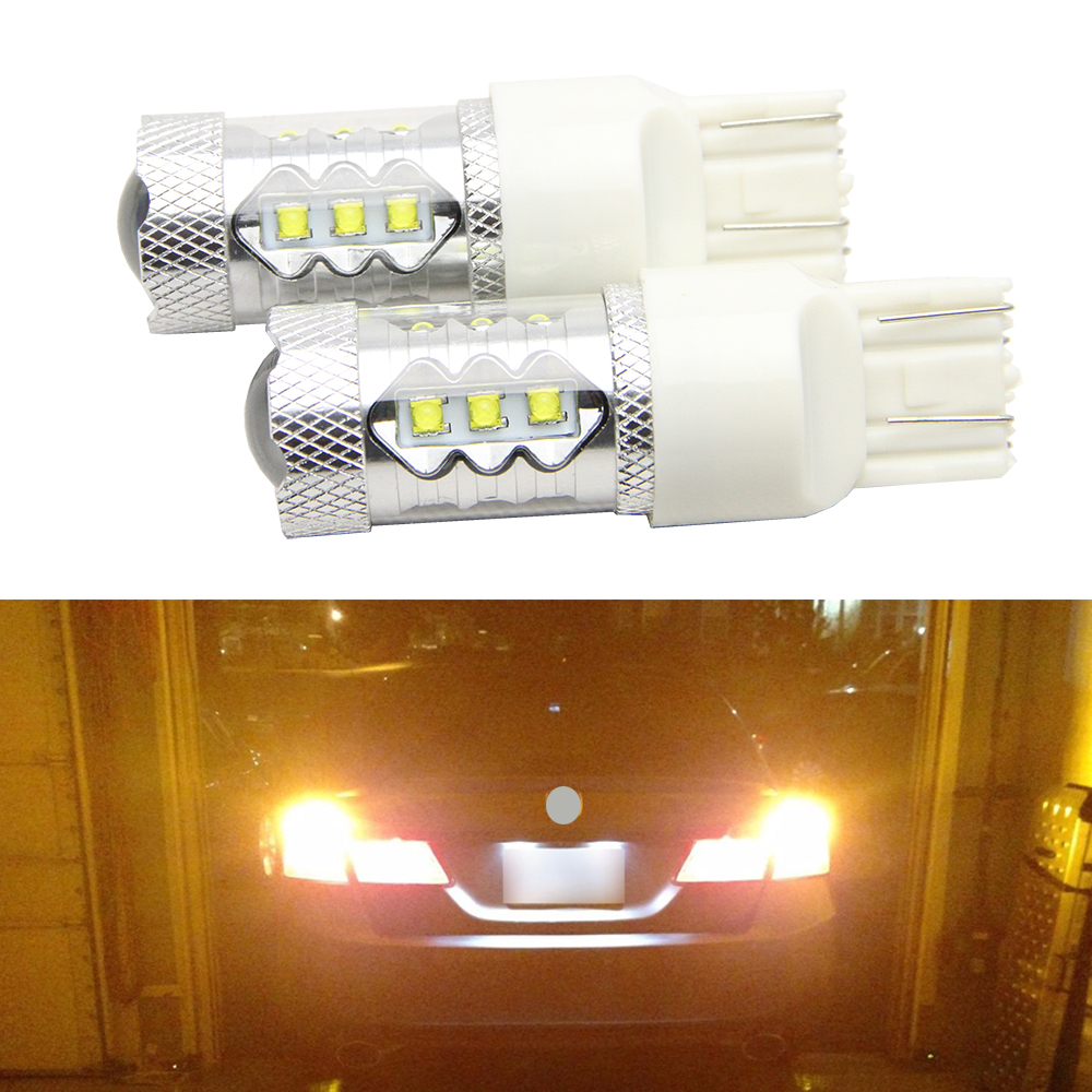 2x High Power 30W/50W/80W CREE Chip T20 7443 7440 W21W LED Bulbs Car Reverse Lights Signal Backup DRL Lights White/Red/Amber 2x 3014 57smd chip t20 7443 7440 canbus error free bulbs led bulbs car reverse lights signal backup drl lights white red yellow