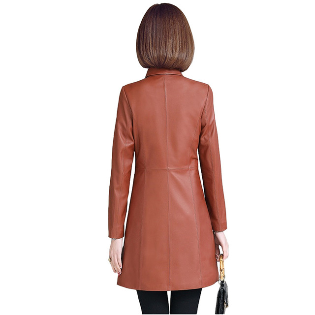 Sheep leather jackets women 2018 spring autumn high quality Windbreaker coat Plus size 5XL real leather jacket ladies Tops H456 3