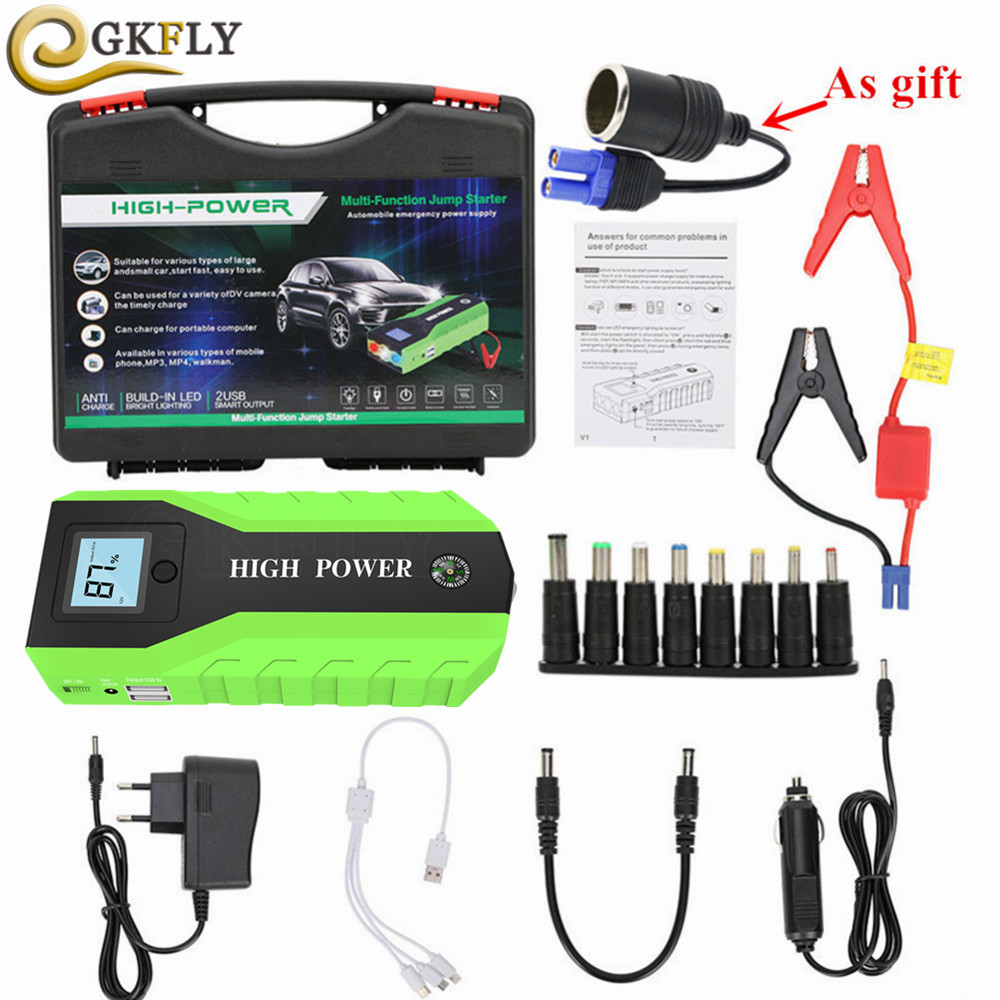High Power 89800mAh Car Jump Starter 12V 600A Starting Device Power Bank Portable Car Battery Charger Booster Buster Starter LEDHigh Power 89800mAh Car Jump Starter 12V 600A Starting Device Power Bank Portable Car Battery Charger Booster Buster Starter LED