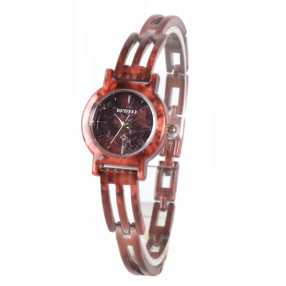 Design de Mármore Quartzo à Prova Relógio de Pulso Caixas de Presente Bewell Feminino Display Analógico Dwaterproof Água Pulseira Acessórios Relógio 078a