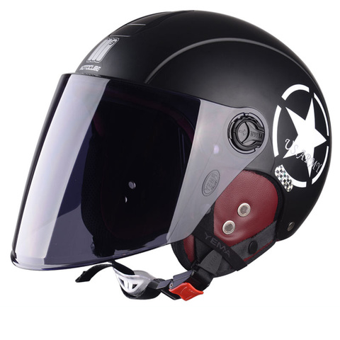 Motorcycle Helmet Half Open Face scooter halmet motocross vintage casque Adjustable Size Protection Gear Head Helmets 54cm-61cm Karachi