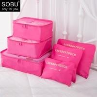 6 Teile/satz Reise Zubehör Verpackung Organisatoren Reise Mesh Tasche In Tasche Gepäck Organizer Verpackung Cube Veranstalter für Kleidung N117