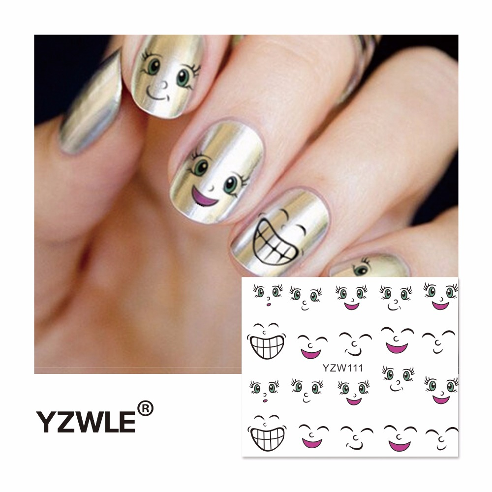 YZWLE 2016 Hot Sale Water Transfer Nails Art Sticker Manicure Decor Tool Cover Nail Wrap Decal (YZW111) yzwle 1 sheet cartoon watermark water transfer design nail art sticker nails decal manicure tools