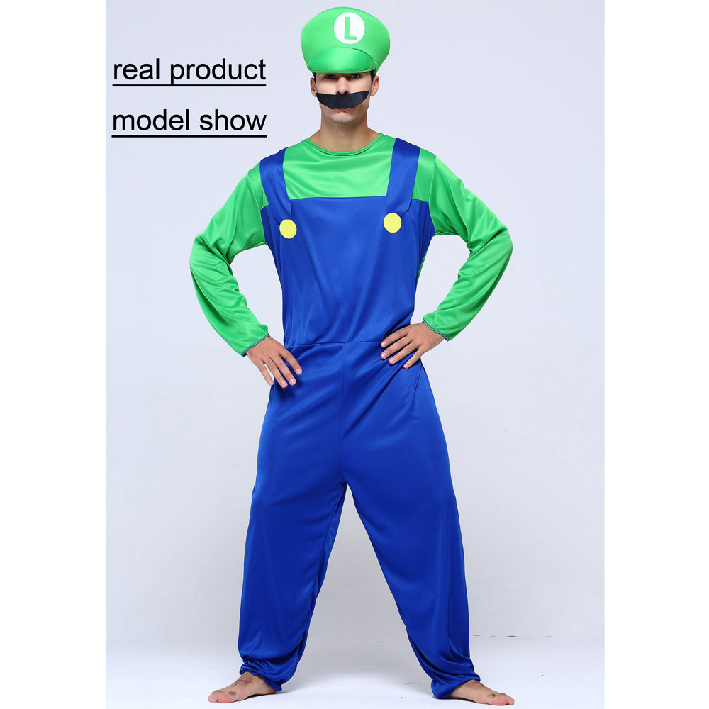 Umorden Helovinas kostiumai Vyrai Super Mario Luigi Brothers - Karnavaliniai kostiumai - Nuotrauka 3