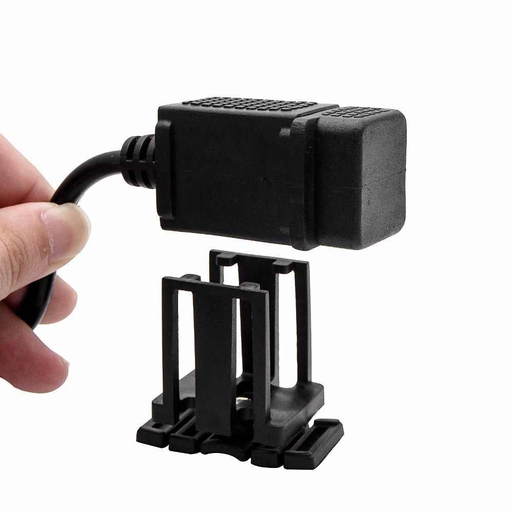 12V Universal Dual USB 2 Port Mini Car Motorbike Motorcycle Cigarette Lighter Socket Charger Car Charger Power Adapter