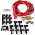 PRECISIE AUTO LABS 4040R Universal Fit Bougiekabel Set Bougiekabels, Super Voorraad, RFI Onderdrukking, 8mm, Geel, Strai